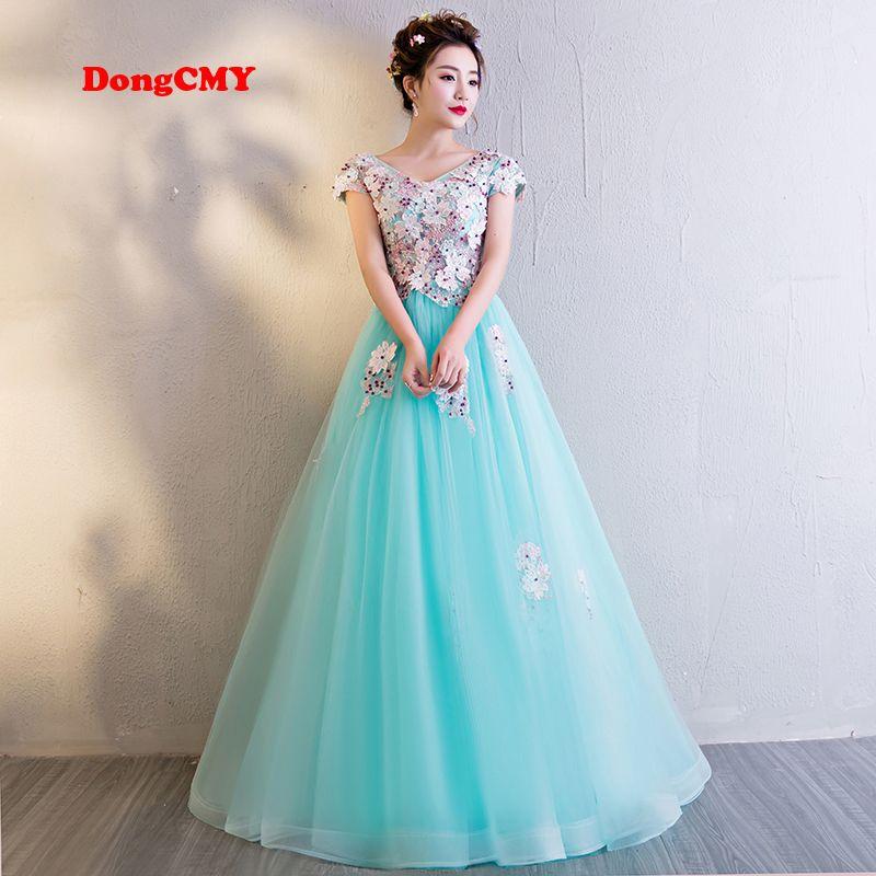 DongCMY wedding dress 2017 new Fashion long flower lace-up short ...