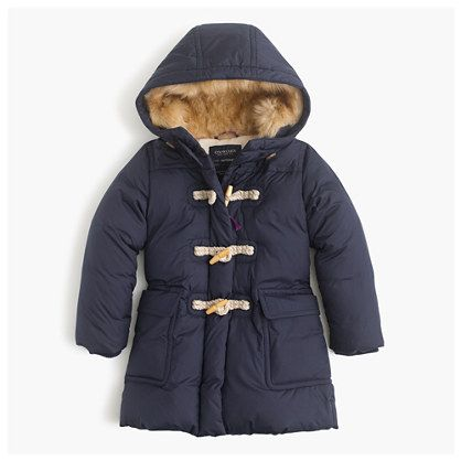 Girls' toggle puffer coat : puffer | J.Crew | Cute kiddo things ...
