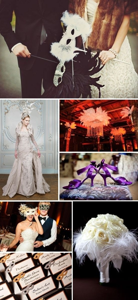 Midnight In Venice Theme Wedding Masquerade Wedding The White And