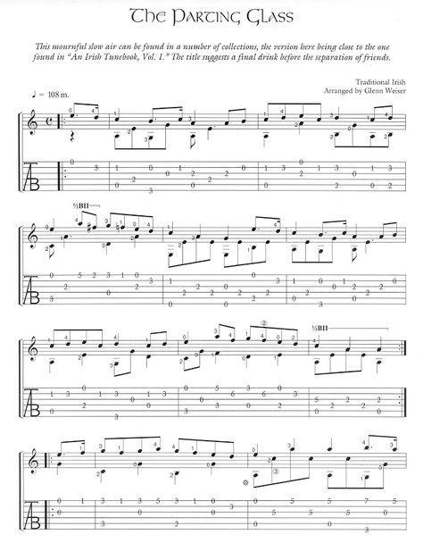 Free Celtic Fingerstyle Guitar Arrangements-The Parting Glass ...