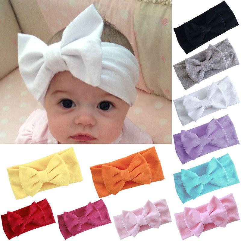 Baby Girls Kids Cute Sweet Bow Ribbon Hair Accessory Headband Bow Head Band Wrap