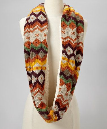 Take a look at this Red Autumnal Infinity Scarf by Emanuel Geraldo on #zulily today!