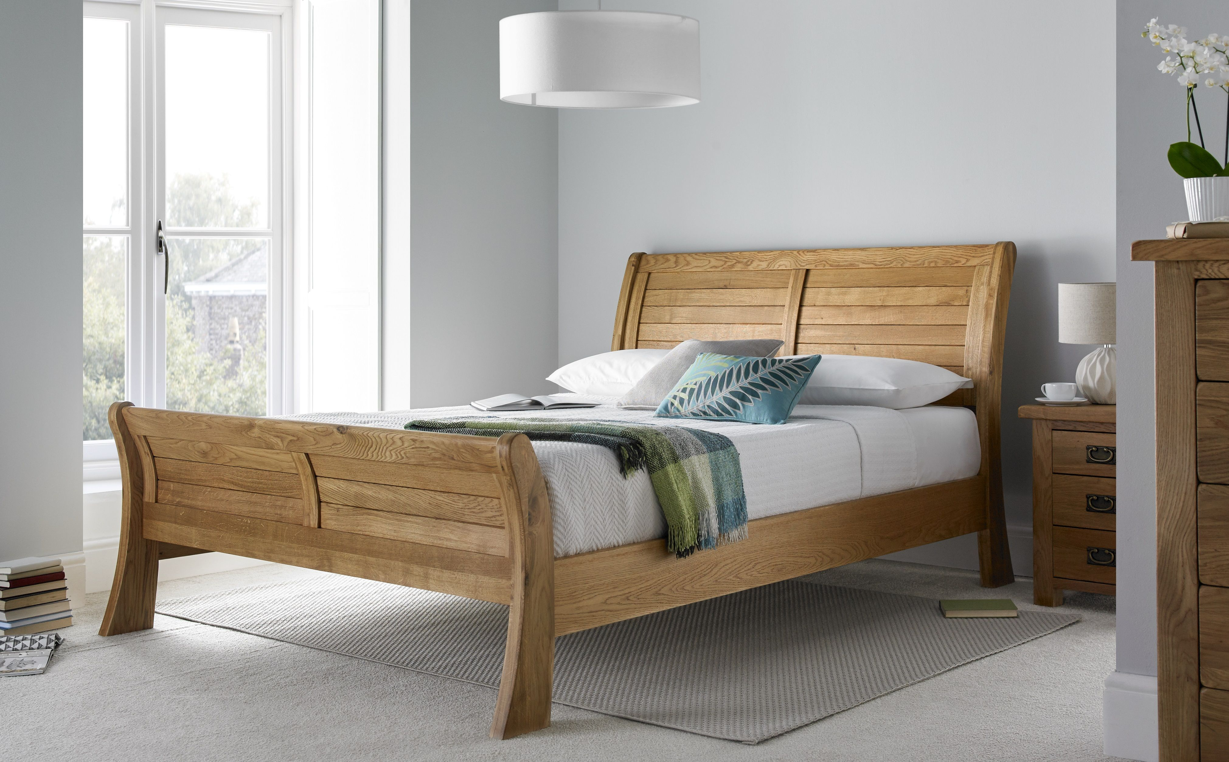 The Heritage Sleigh bed is a contemporary