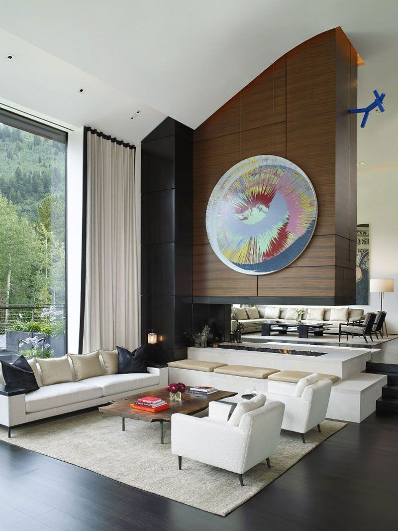 modern house interiors%0A Aspen Art House by Stonefox Design