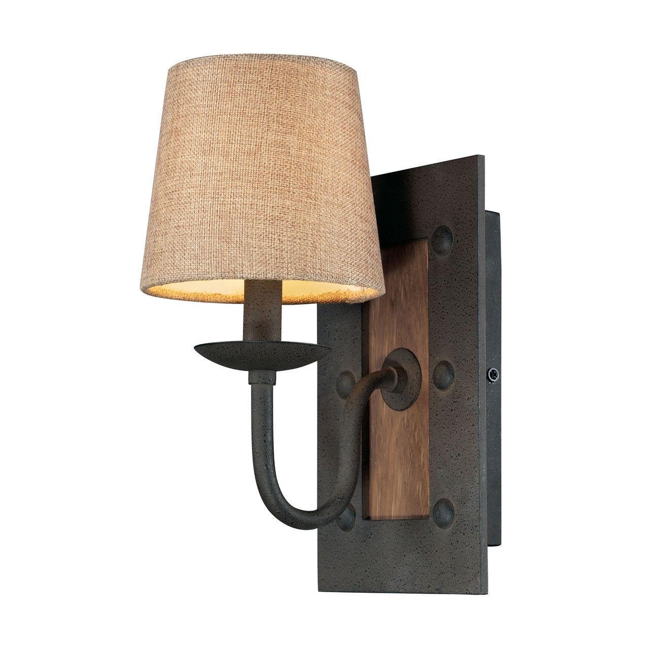 early american 1 light wall sconce in vintage rust 14130 1