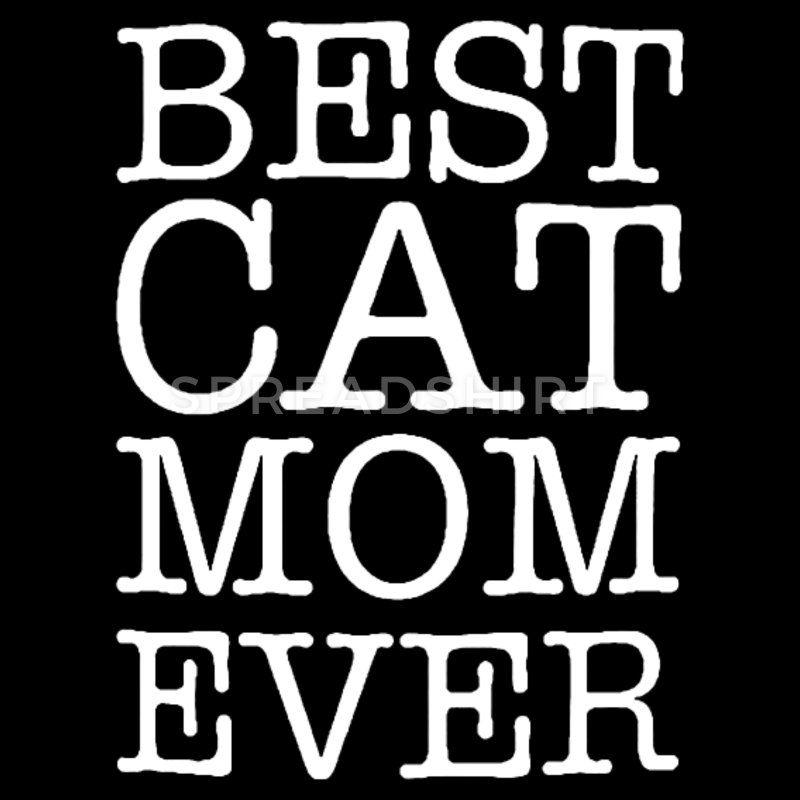 Funny Vintage Best Cat Mum Ever Ladies Tshirt Cat Humour