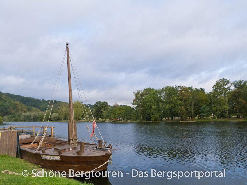 """Eine """"Gabare"""" auf der Dordorgne in Beaulieu-Sur-Dordogne, Région Limousin, Frankreich - Foto: Mario Hübner"""