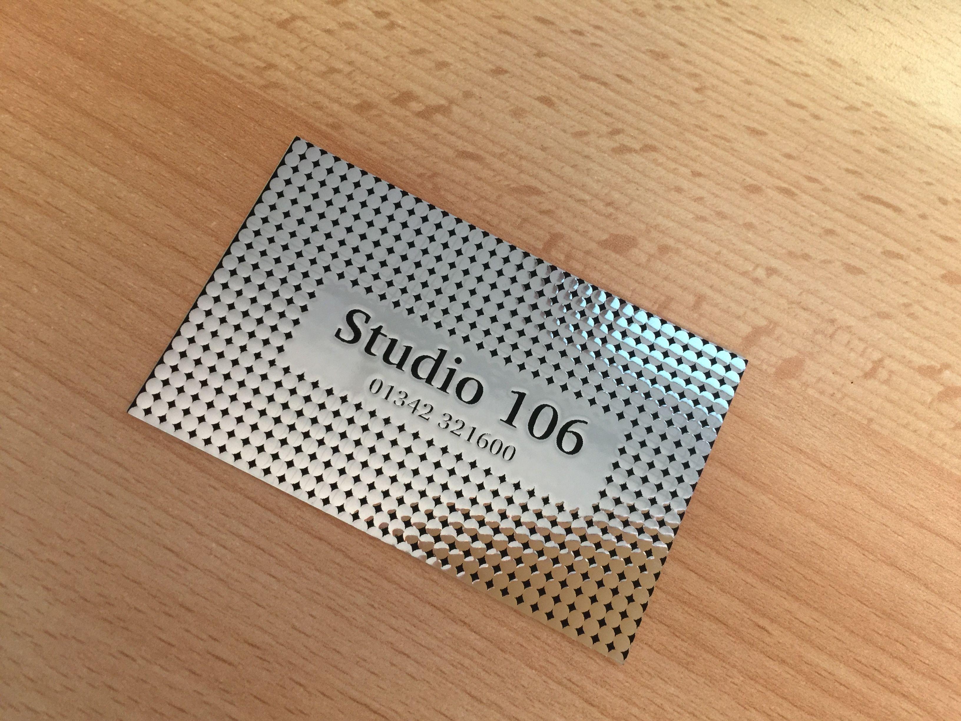 350gsm silver foil business cards foil business cards