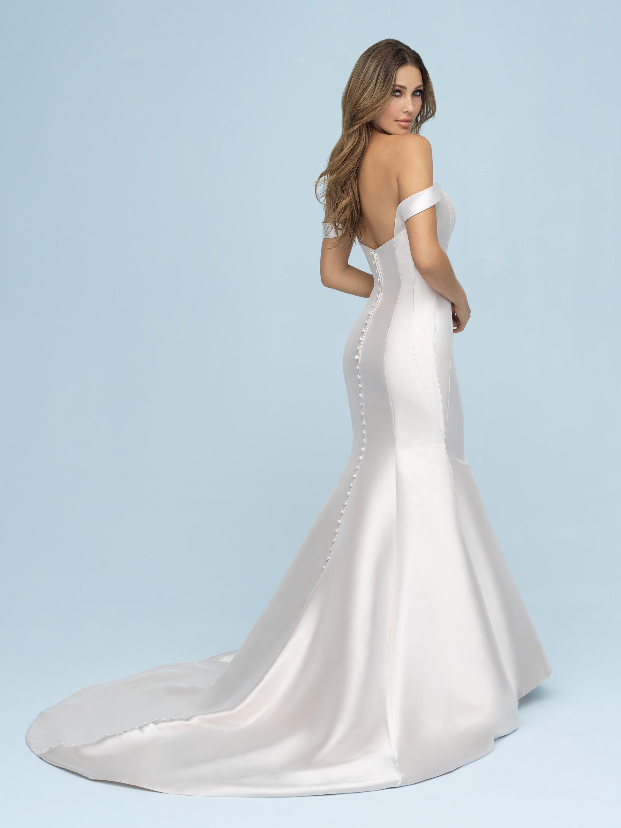 Pin By Gracyn Elizabeth Bride On Simple Silhouettes Allure Wedding Dresses Allure Bridal Mikado Wedding Dress [ 2784 x 2088 Pixel ]