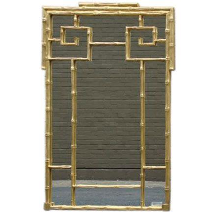 chinese gold bamboo mirror