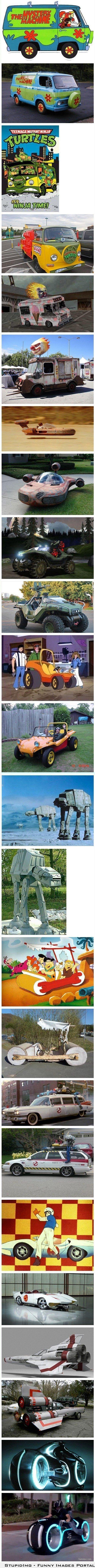 Cartoon vehicles IRL.