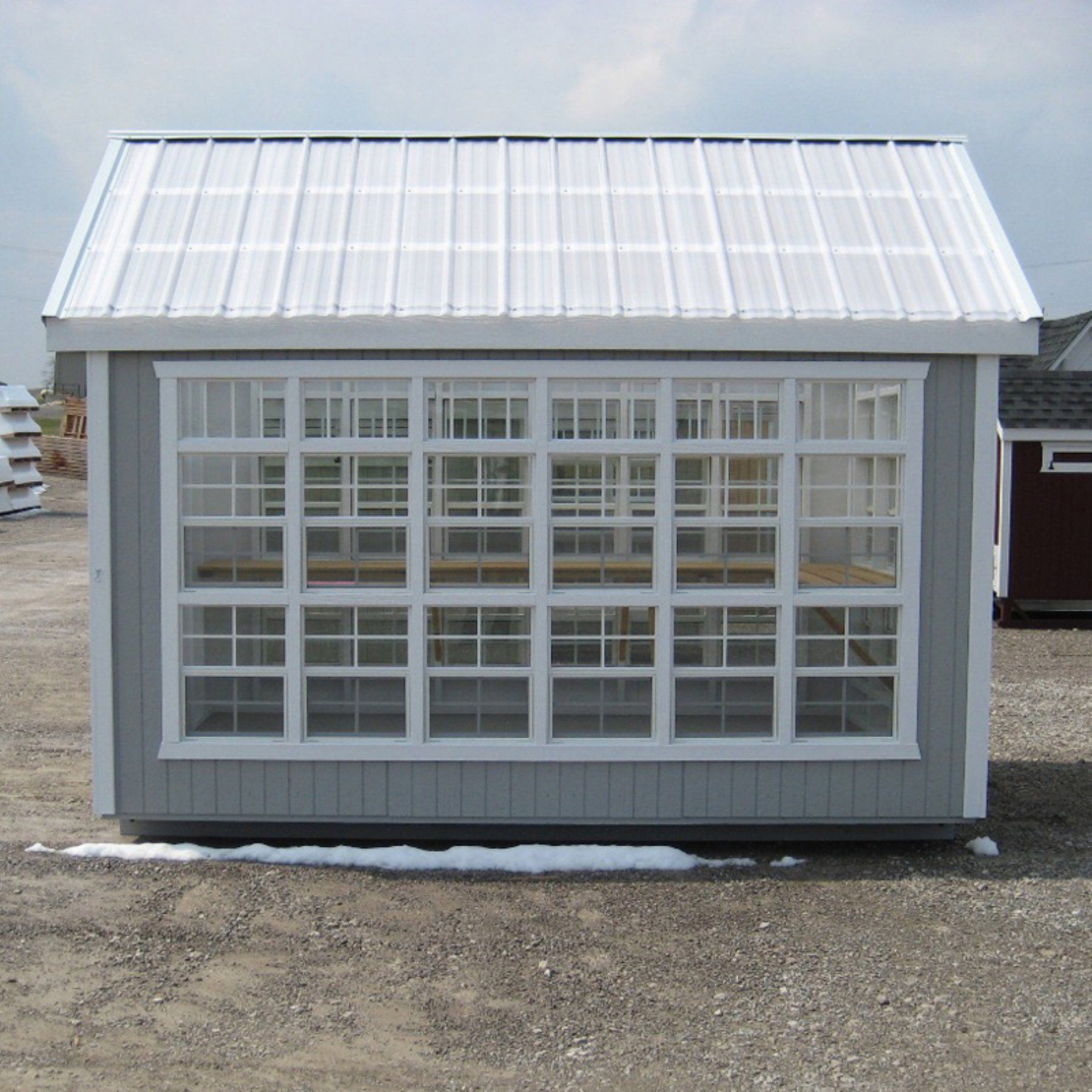 little cottage colonial gable panelized greenhouse with optional rh pinterest com