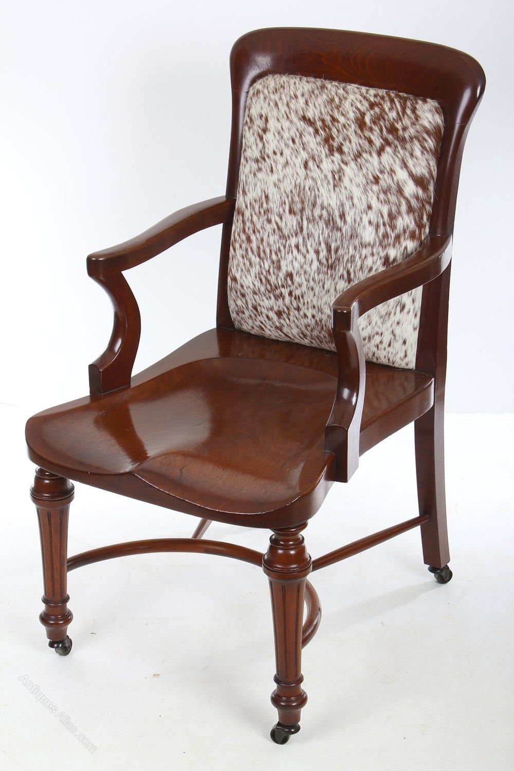 Solid Mahogany Victorian Desk Chair In 2020 Chair Desk Chair Vintage Furniture