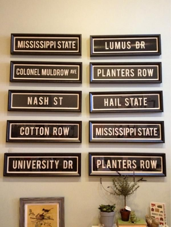 Love. Love. LOVE. New #Starkville street signs from @Aspen Bay! Which street brings you the most great memories?