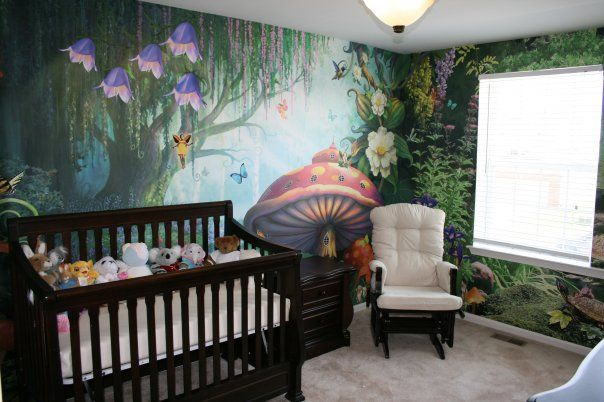 Enchanted Nursery Room willow tree, I really wanted to do