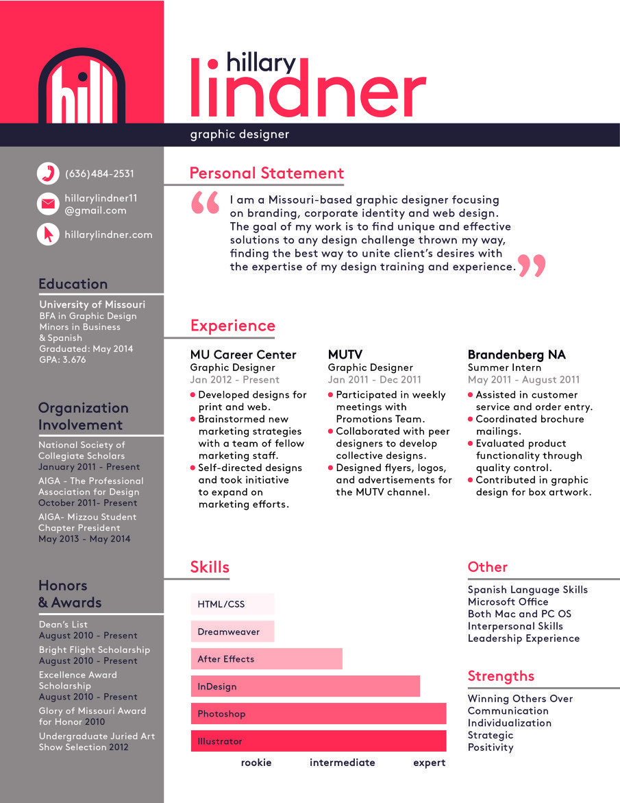 Graphic Designer Resume Examples Design Resume With Job Description  Google Search  Design