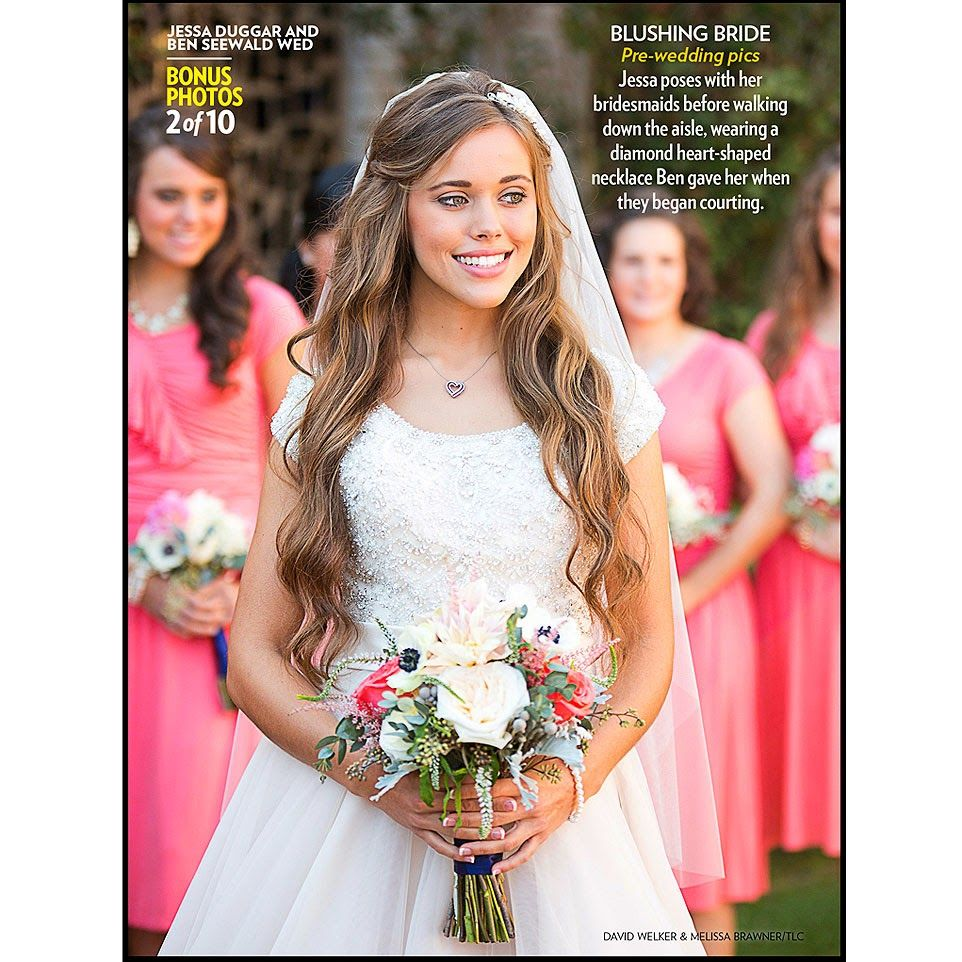 Jessa Duggar And Bridesmaids She Is So Beautiful Jessa Duggar Wedding Dress Jessa Duggar Wedding Duggar Wedding