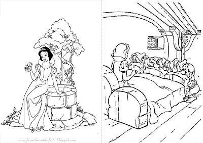 Branca De Neve Livrinho Para Colorir Com Imagens Imagens