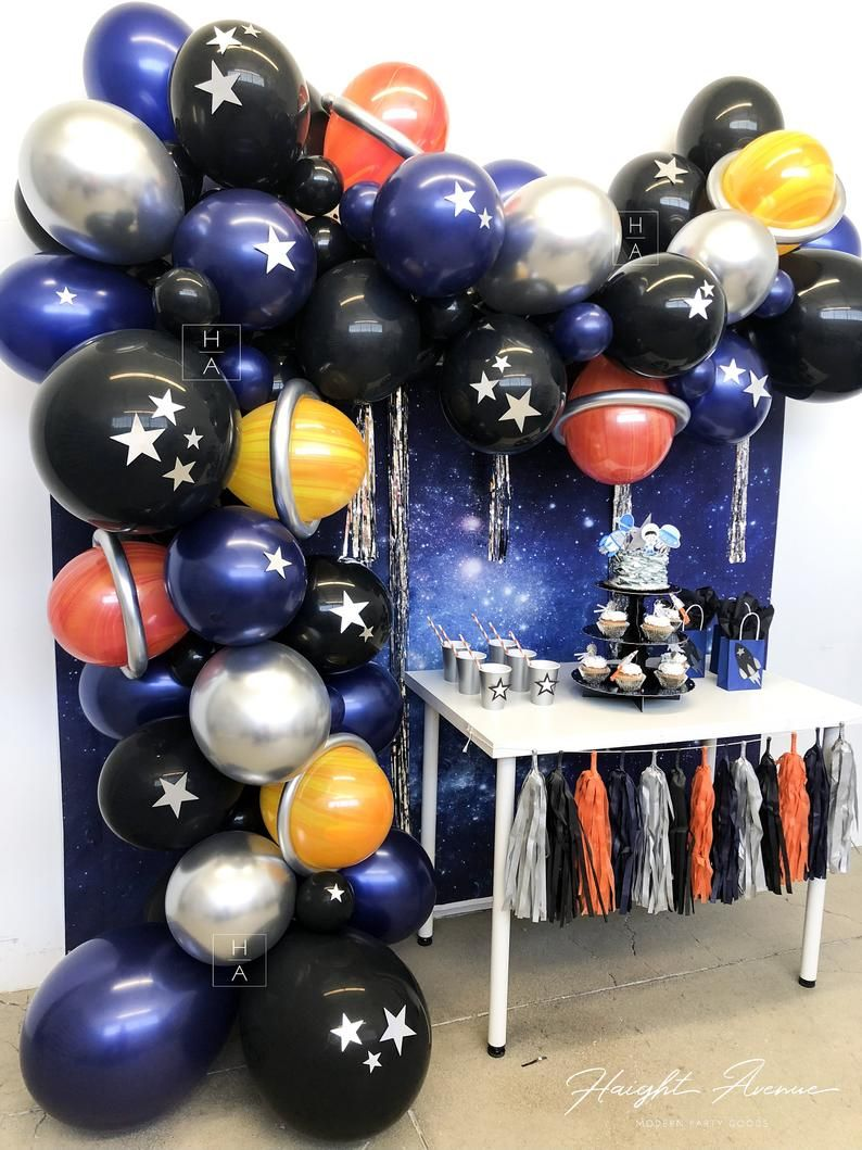 Deep Space DIY Balloon Garland Kit. Beautiful balloon
