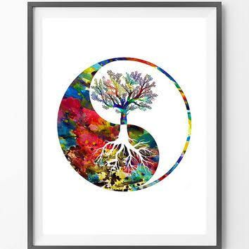 Watercolor Tattoo Tree Of Life Google Search Yin Yang Art
