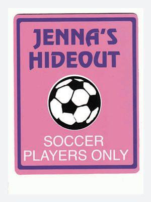 personalized girls soccer bedroom door sign punt it punt it real rh pinterest com