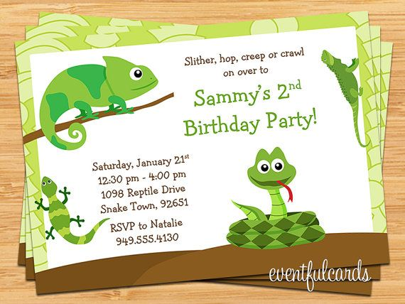 40th birthday ideas: reptile birthday invitation templates.