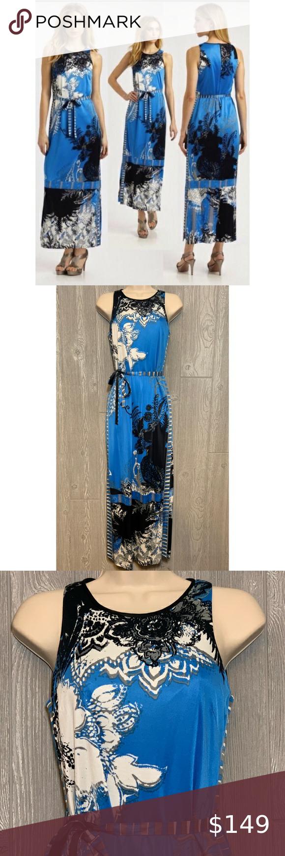 Elie Tahari Beatrice Delta Blue Maxi Dress Xs Nwt Maxi Dress Blue Elie Tahari Blue Maxi [ 1740 x 580 Pixel ]