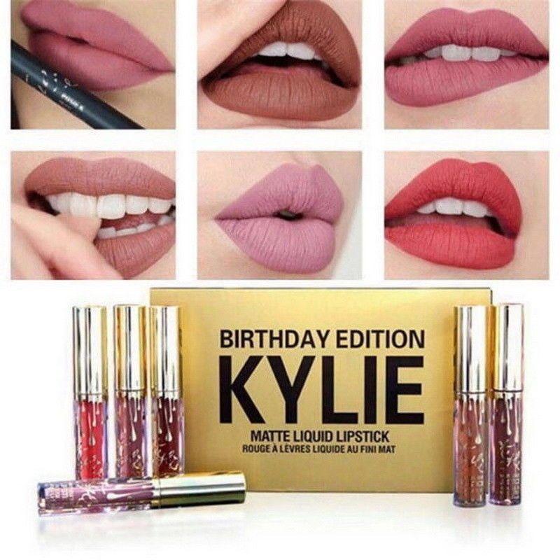 Sales Kylie Jenner Birthday Edition Matte Lip Kit 6 Piece In One