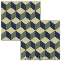 Güell Cubes Field Tile Arrangement