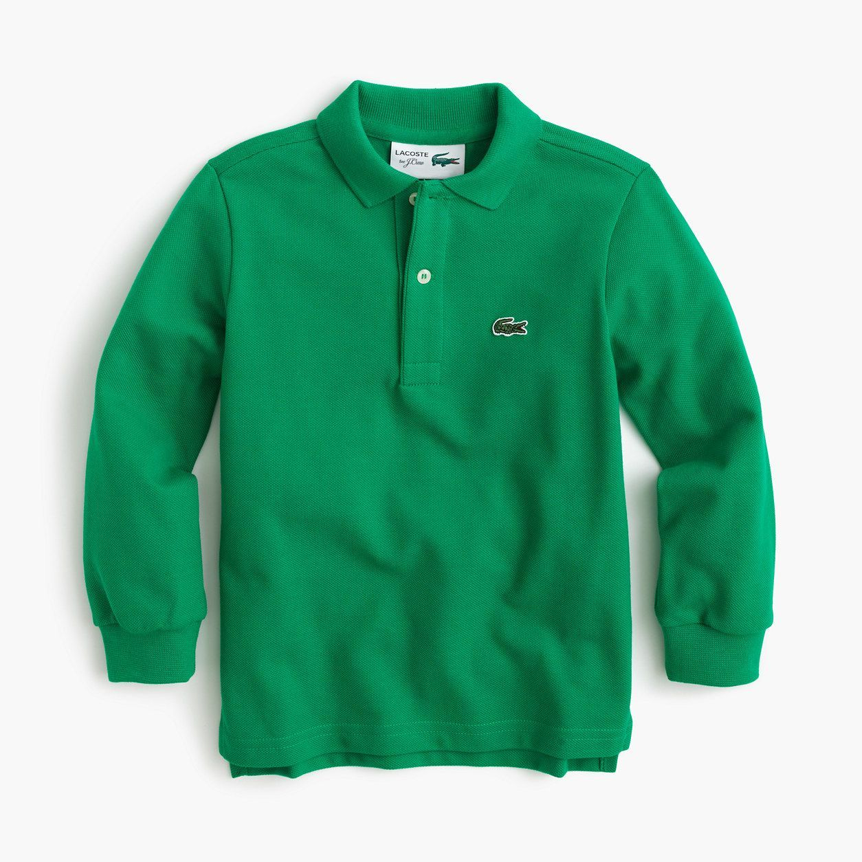 830791c8 crewcuts Boys Lacoste For J.Crew Long-Sleeve Polo Shirt (Size 16 Kid ...
