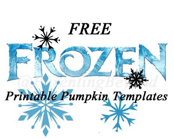 free frozen pumpkin carving halloween templates free stencil rh pinterest co uk