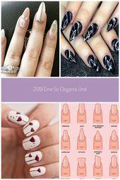 2019 Eine so elegante und überraschende Nagelkunst. #Acryl #Nagel #Babyboom #Na…