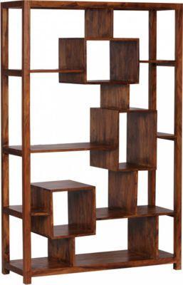 Wohnling WOHNLING Bücherregal Massiv-Holz Sheesham 115 x 180 cm ...