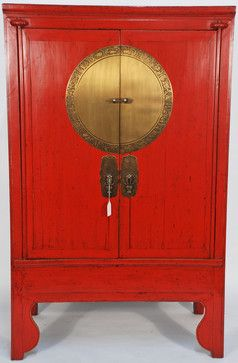 chinese antique wedding cabinet with brass zodiac medallion asian rh pinterest com