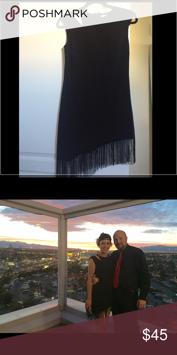 Ali & Jay black fringe dress Worn once / like new. Excellent for variety of occaisions - purchased April 2016. Ali & Jay Dresses