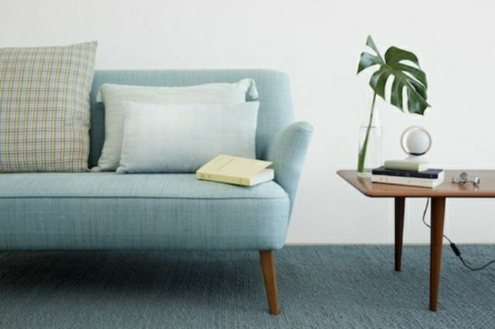 Skandinavische Designermöbel skandinavische möbel wohnzimmer sofa in blau helgoland