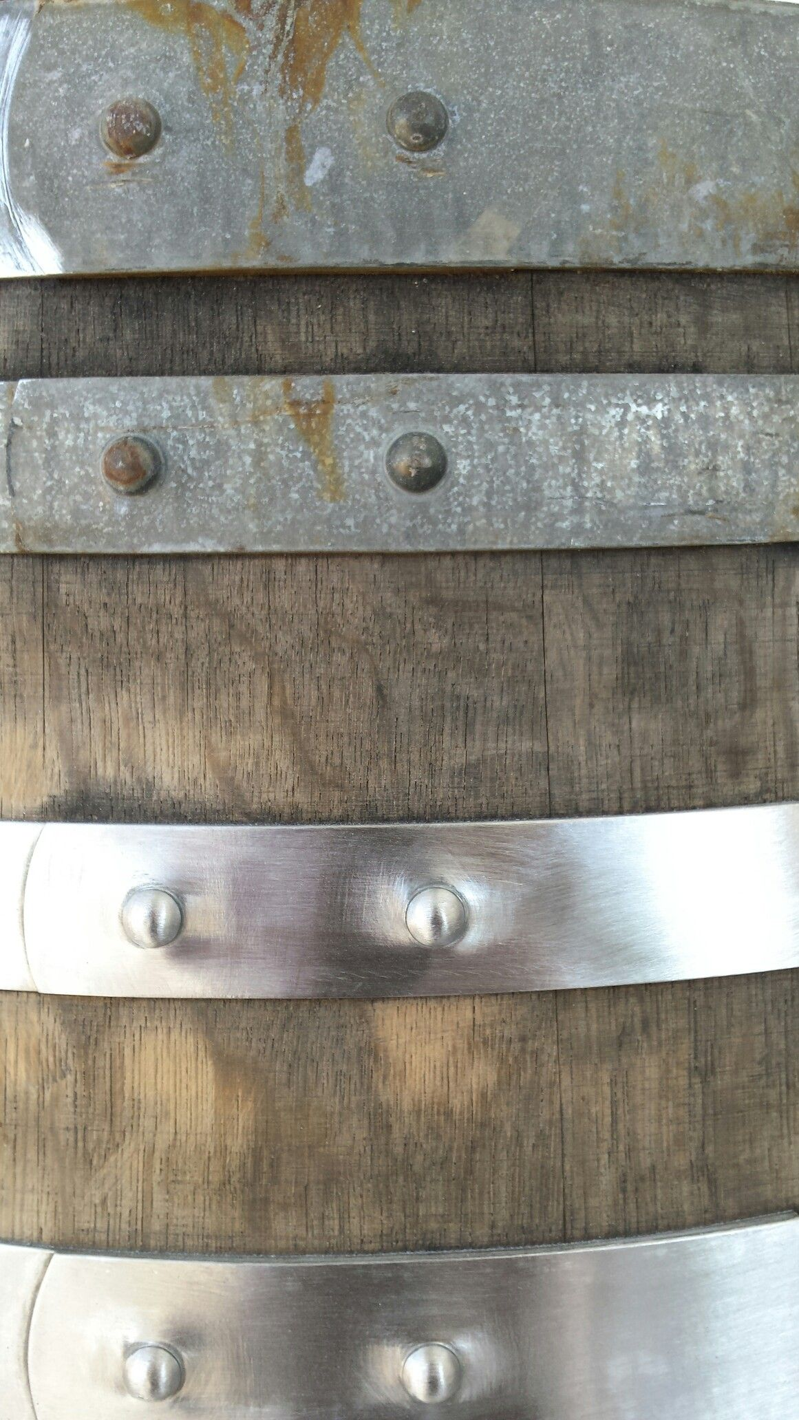 Before And After Cleaning Used Wine Barrel Hoop Bands Wine