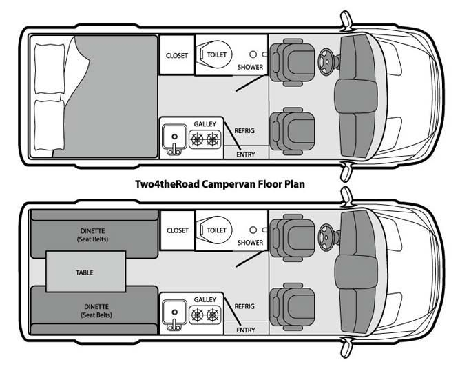 Two4theRoad Campervan, Dodge Sprinter Campervan Rental :: Campervan North America LLC - #America #Campervan #Dodge #layout #LLC #North #Rental #Sprinter #Two4theRoad #campеr