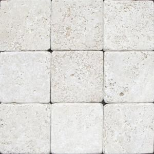 msi chiaro 4 in x 4 in tumbled travertine floor and wall tile 1 rh pinterest com