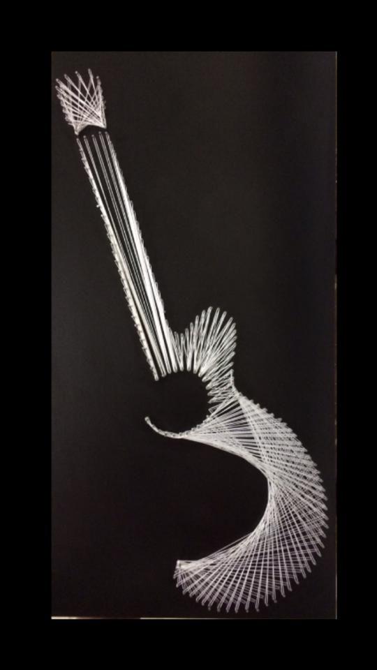 cuadro hecho con clavos e hilo hecho por mi | String Art | Pinterest ...