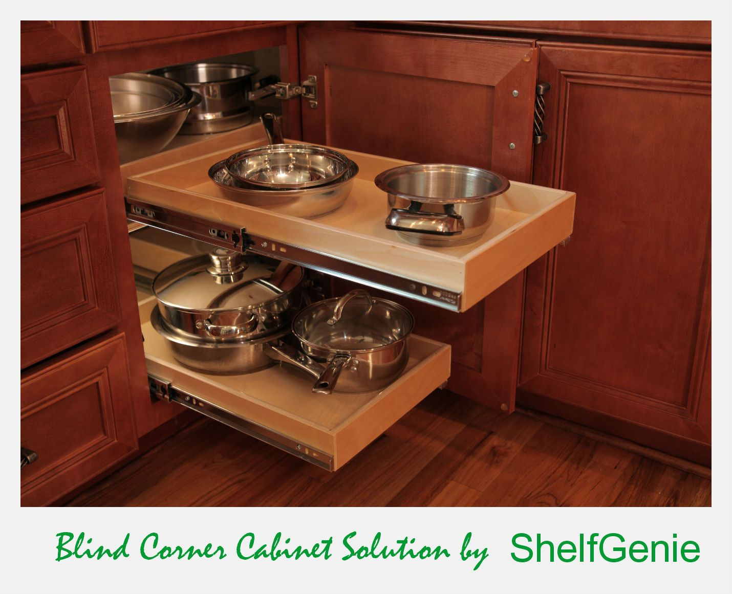 use your existing storage space wisely with a blind corner cabinet rh pinterest com