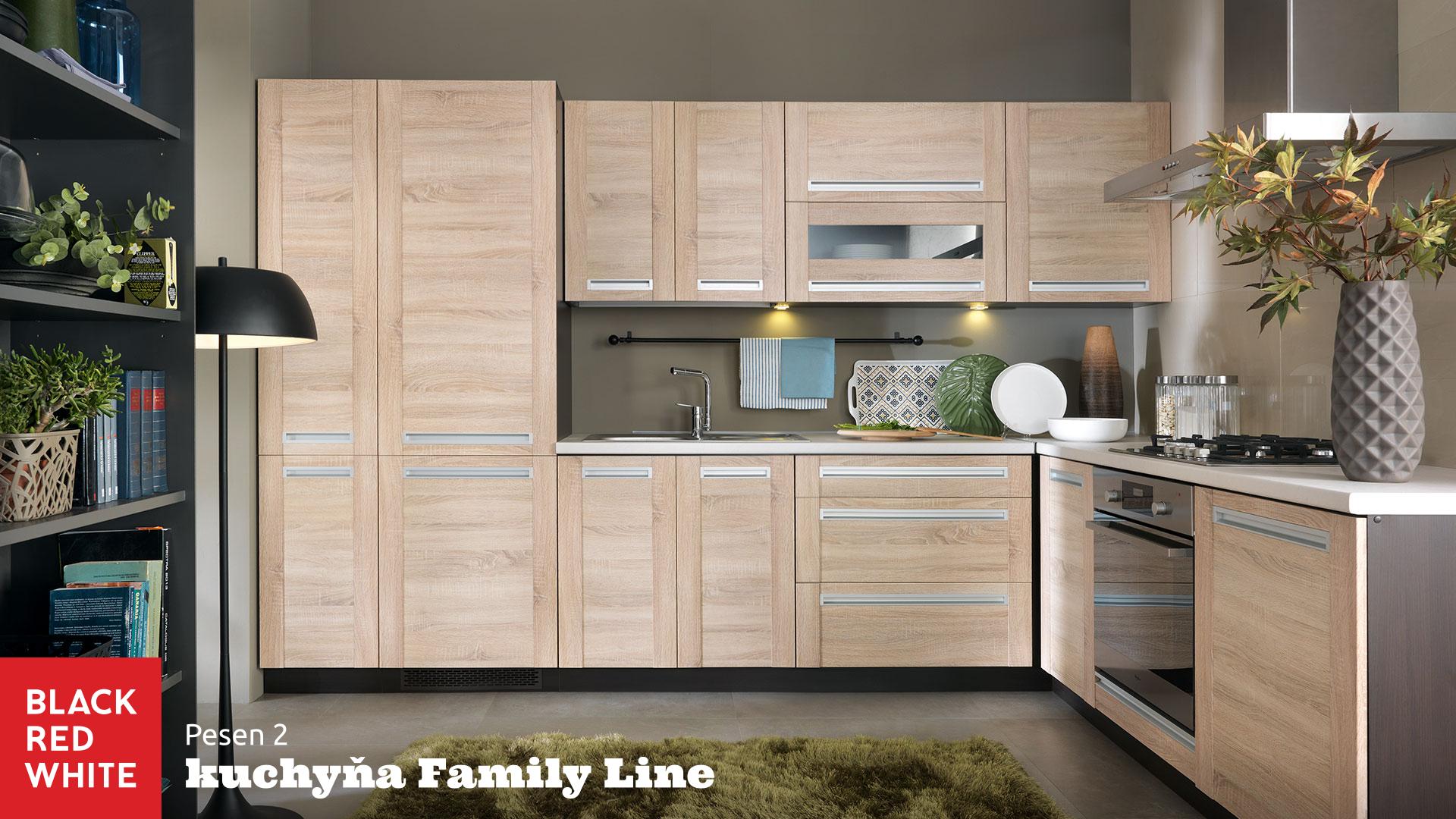 Kuchyňa na mieru Family Line prevedenie Pesen 2 od Black Red White