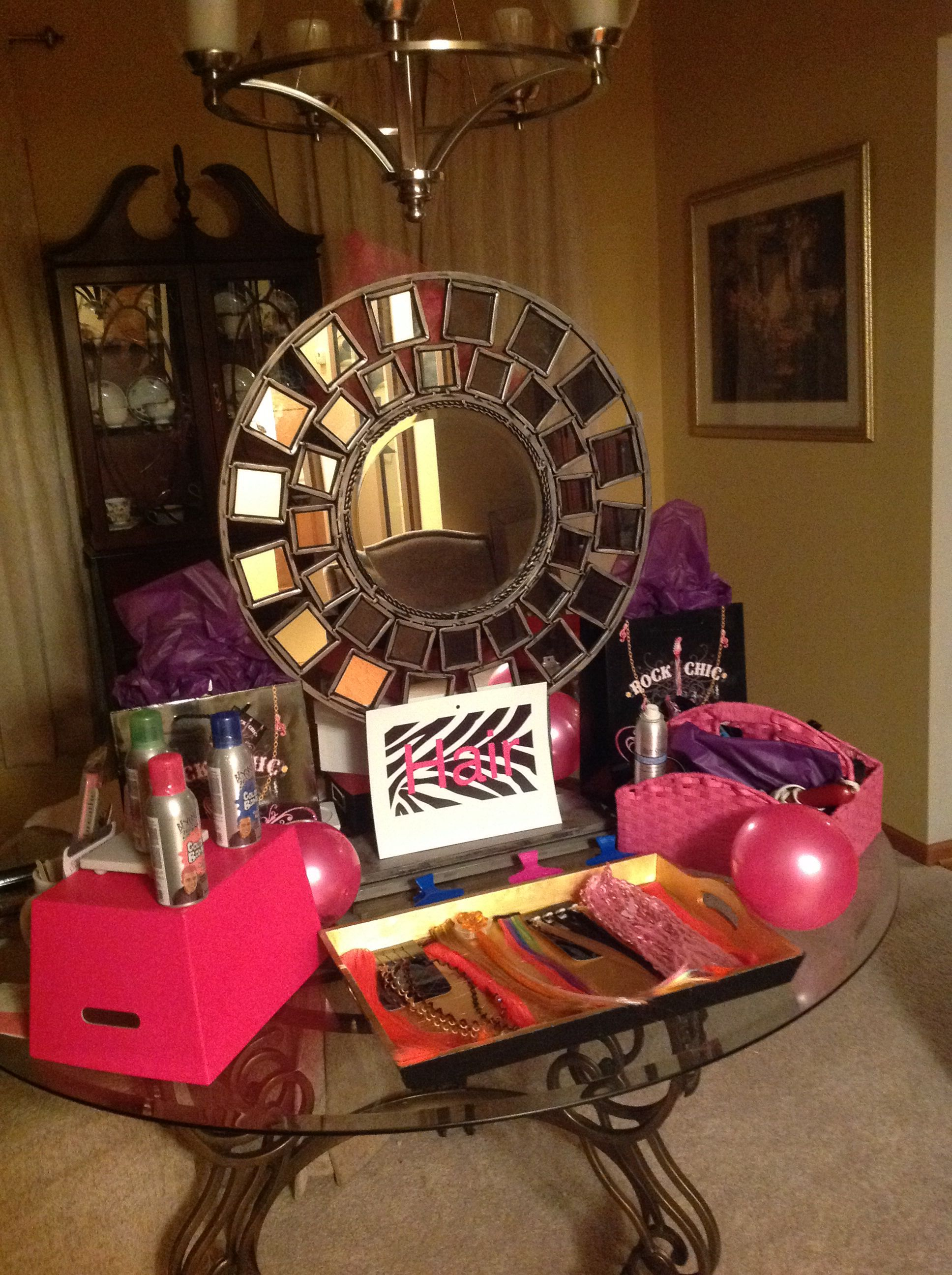 My 9 Year Old Daughters Girls Rock Birthday Party Hair Station Fun Games