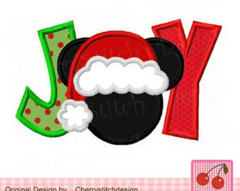 Micky Mouse With Santa Hat Embroidery Designs