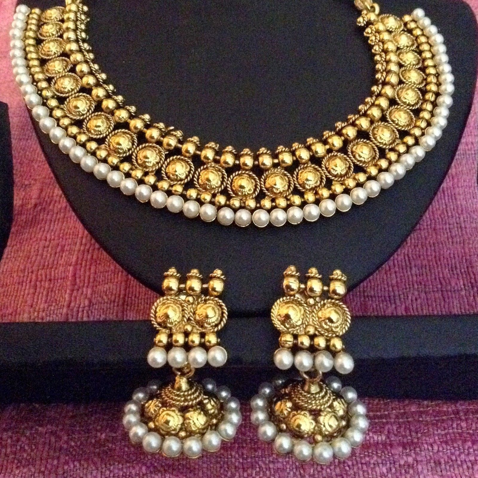 Pearl ethnic glowing indian traditional festive woman jewelry