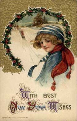 Free Vintage Postcard Images – Happy New Year