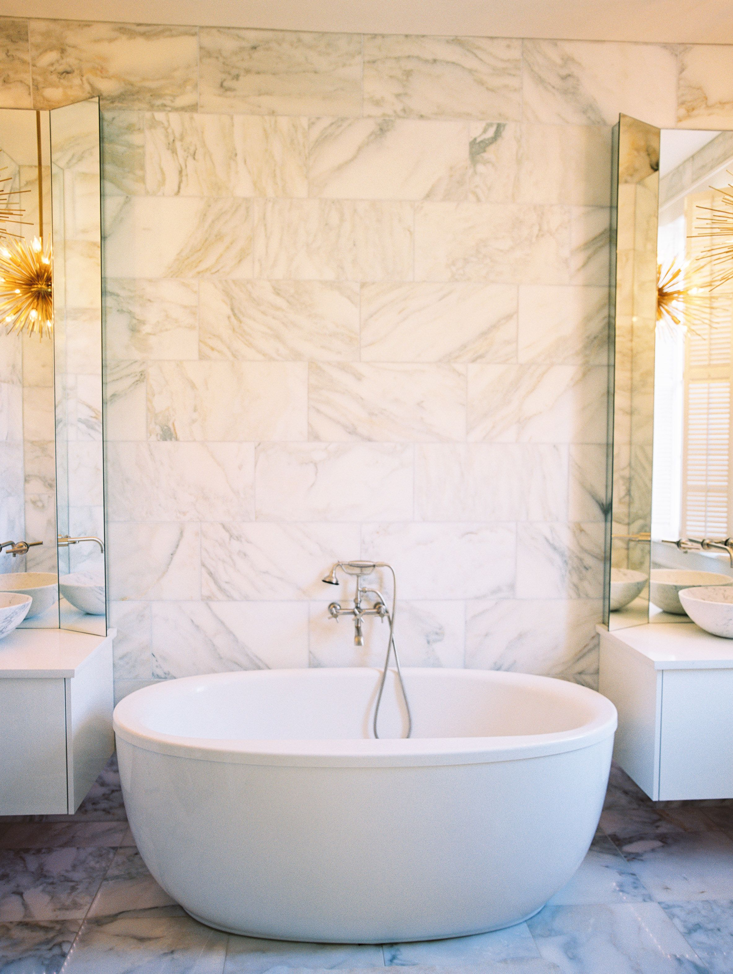 Marble Bathroom with deep soaking tub | Celtic Works Renovations ...