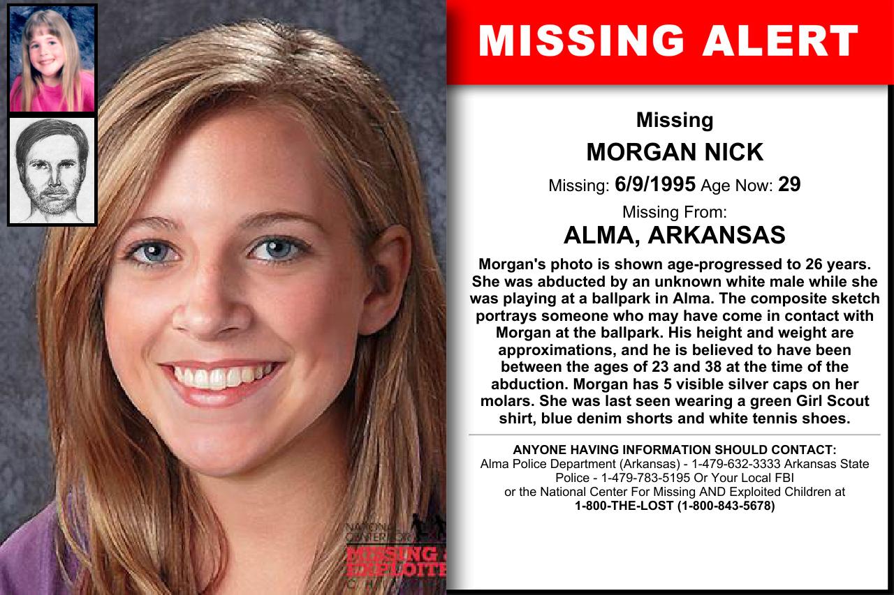 Arkansas Morgan Nick Missing Kids Nick Amber Alert Word Find