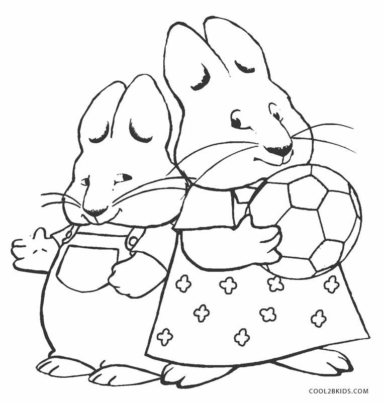 Max and Ruby Coloring Pages in 2020