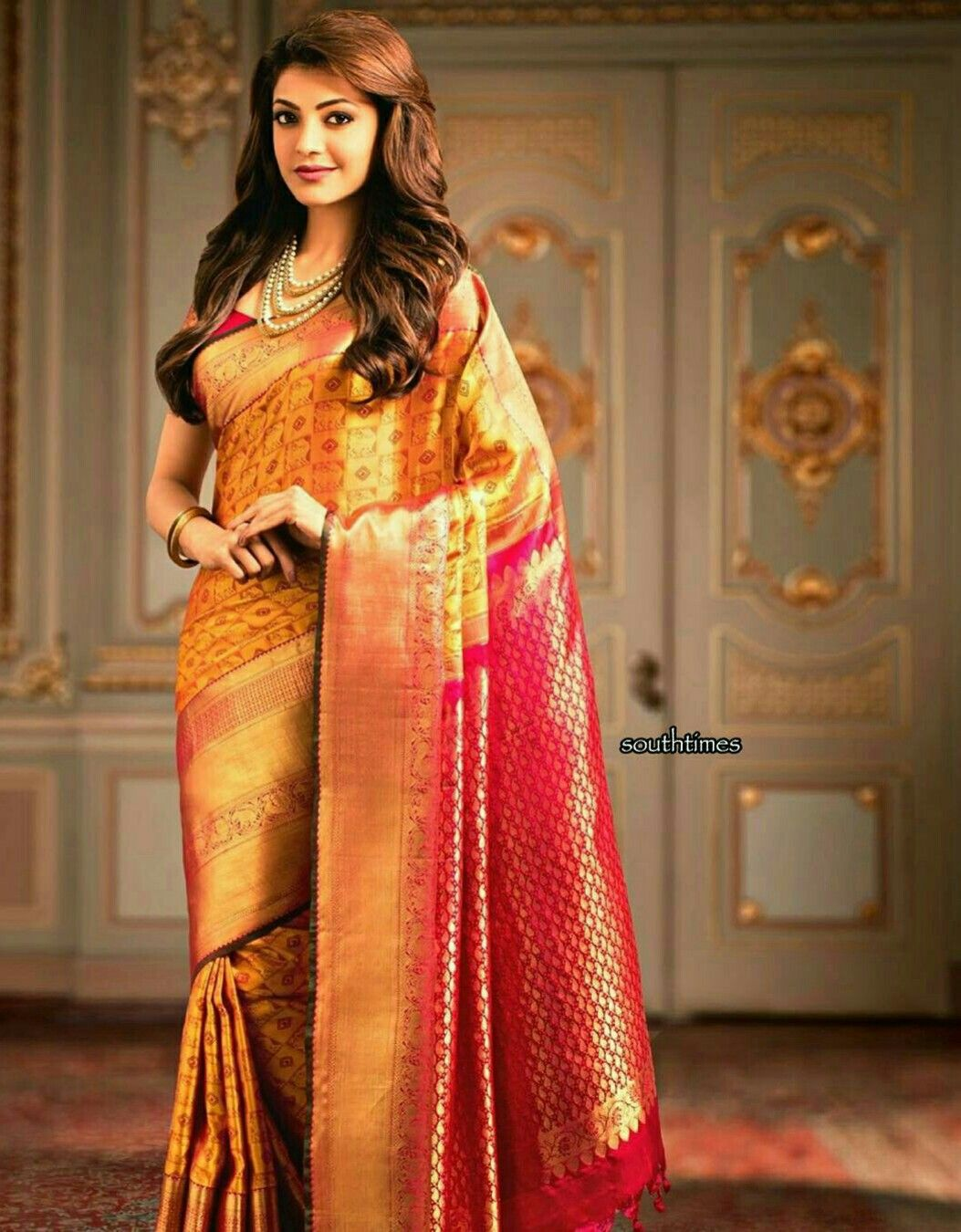 kajal agarwal traditional dress - photo #15
